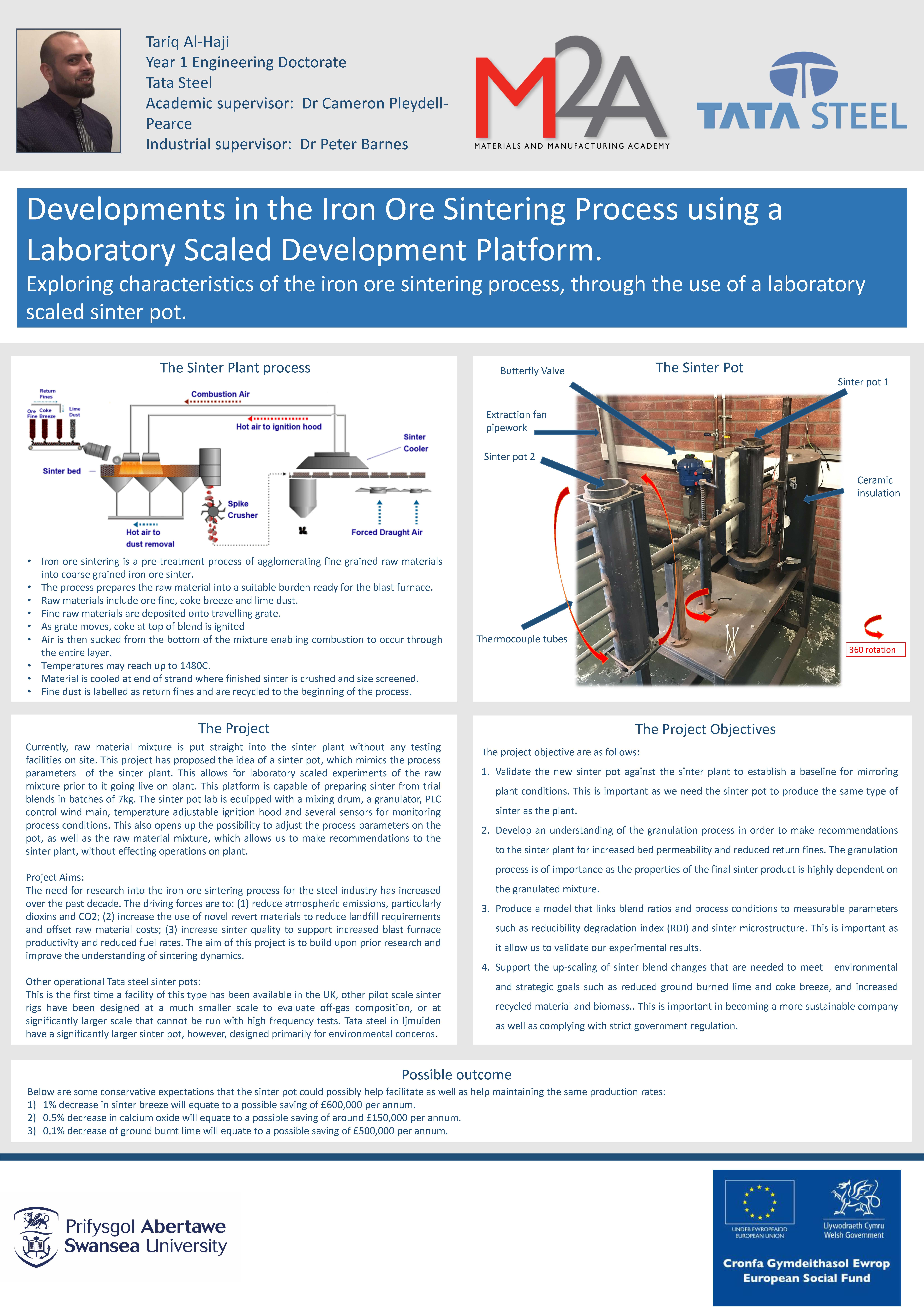 Developments in the Iron Ore Sintering Process using a Laboratory Scaled Development Platform