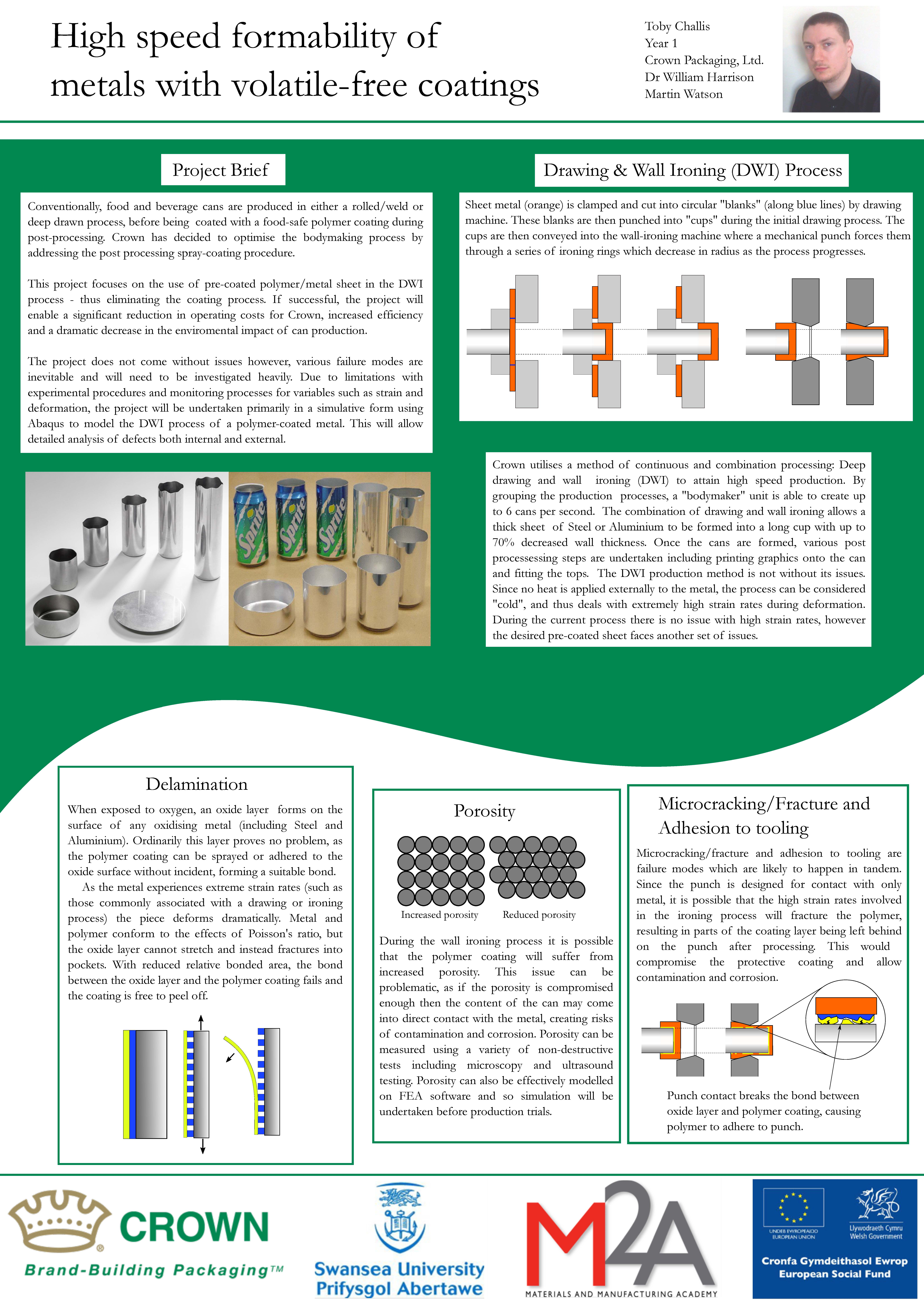High speed formability of metals with volatile-free coatings