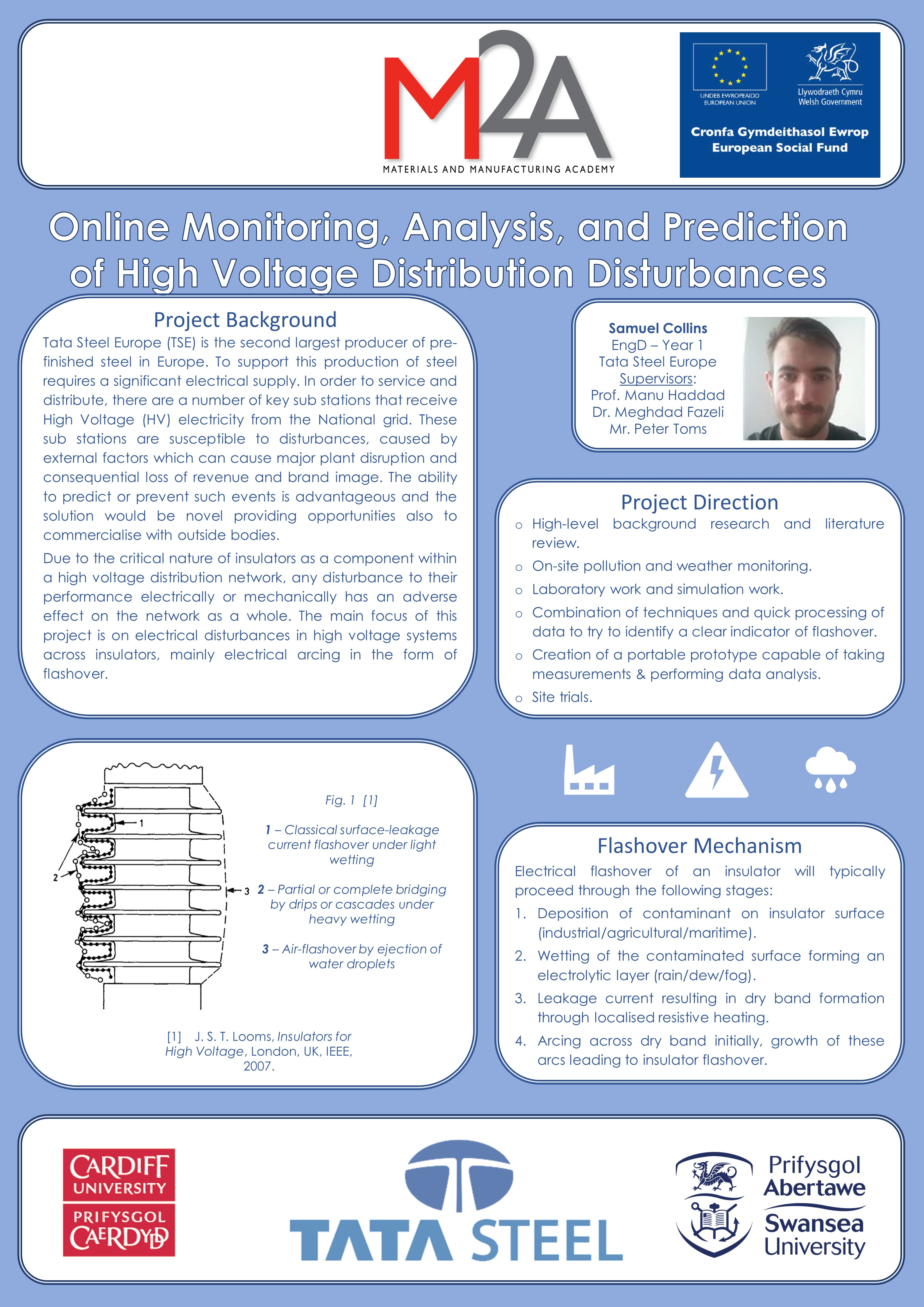 Online Monitoring, Analysis, and Prediction of High Voltage Distribution Disturbances