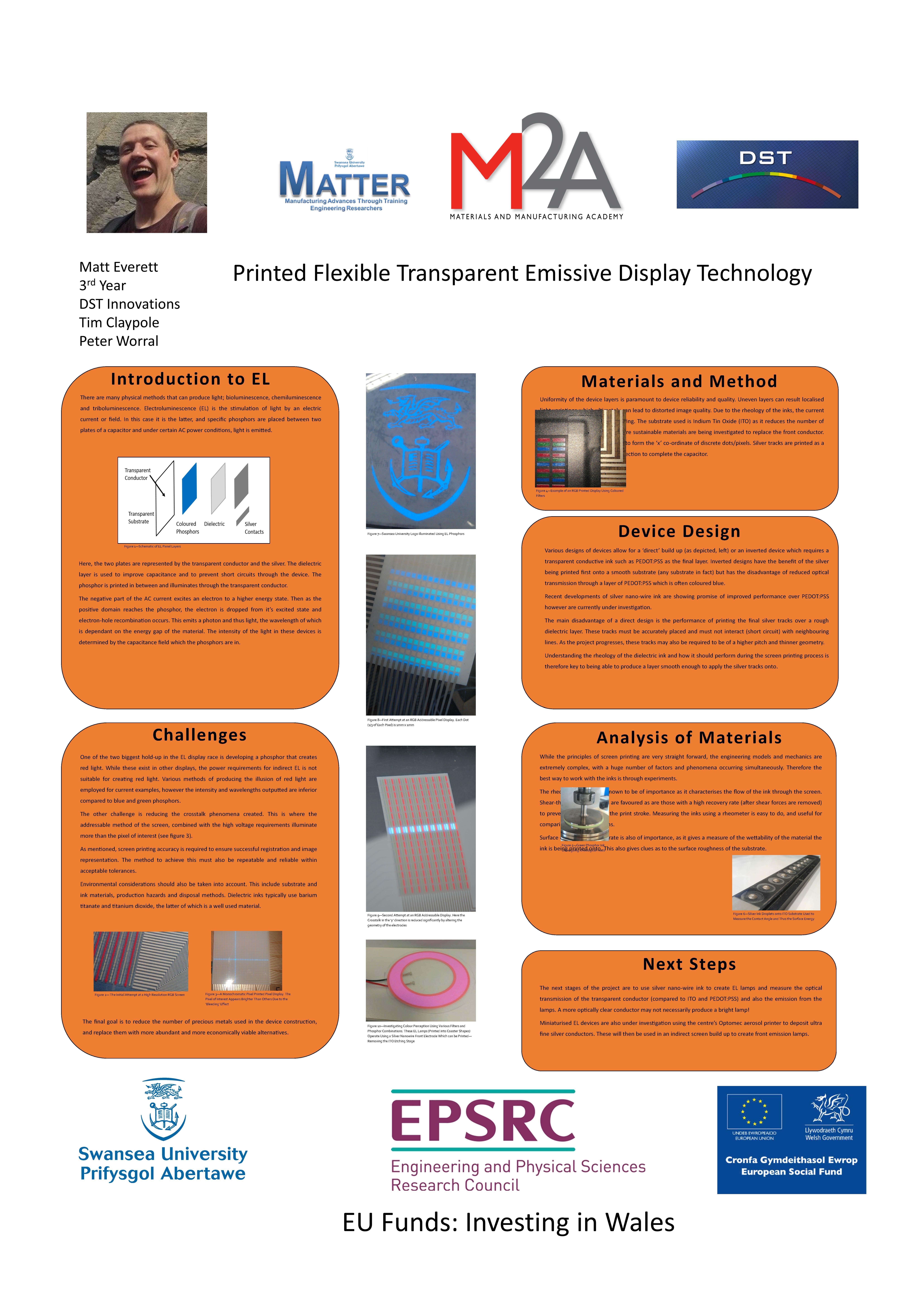 Printed Flexible Transparent Emissive Display Technology